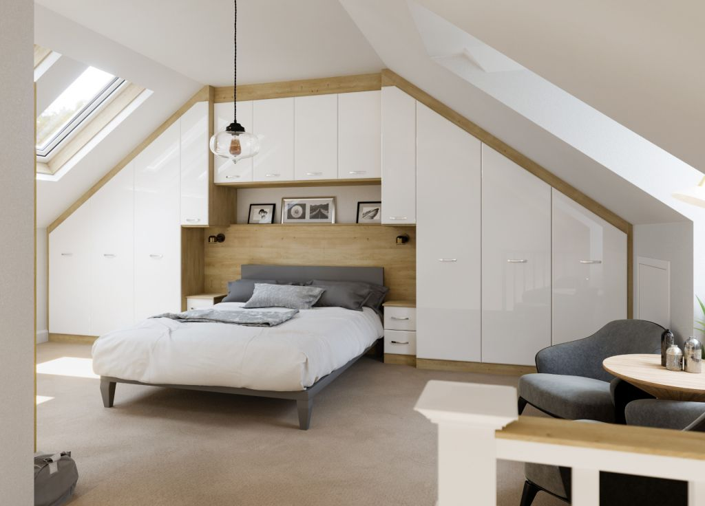 White Gloss and Structured Oak two tone